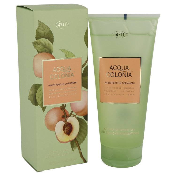 4711 Acqua Colonia White Peach & Coriander by Maurer & Wirtz Shower Gel 6.8 oz for Women - rangoutlet.com