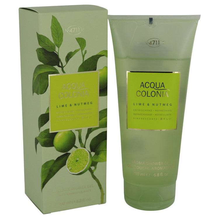 4711 Acqua Colonia Lime & Nutmeg by Maurer & Wirtz Shower Gel 6.8 oz for Women - rangoutlet.com