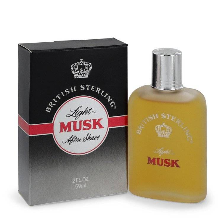 British Sterling Light Musk by Dana After Shave 2 oz for Men - rangoutlet.com