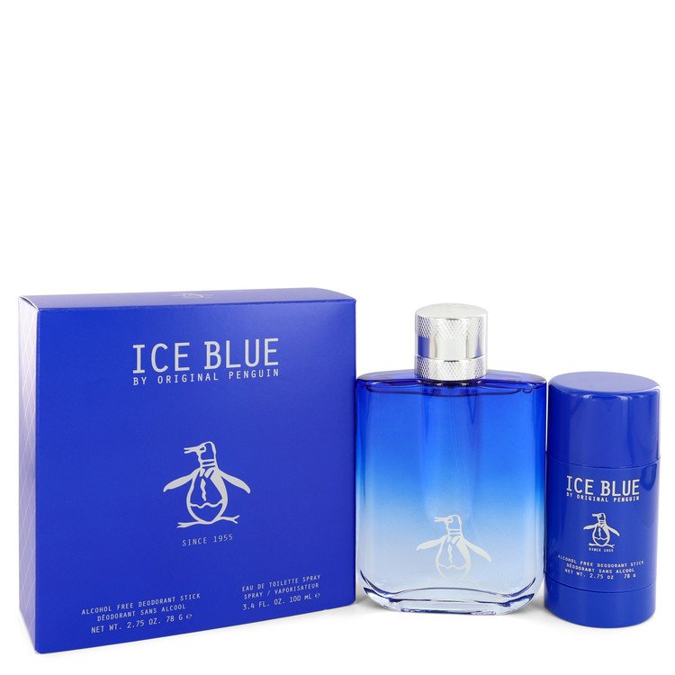 Original Penguin Ice Blue by Original Penguin Gift Set -- 3.4 oz Eau De Toilette Spray + 2.75 oz Deodorant Stick for Men - rangoutlet.com