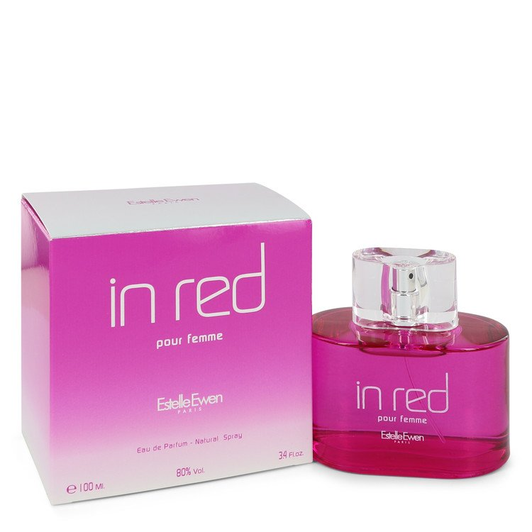 Estelle Ewen in Red by Estelle Ewen Eau De Parfum Spray 3.4 oz for Women - rangoutlet.com