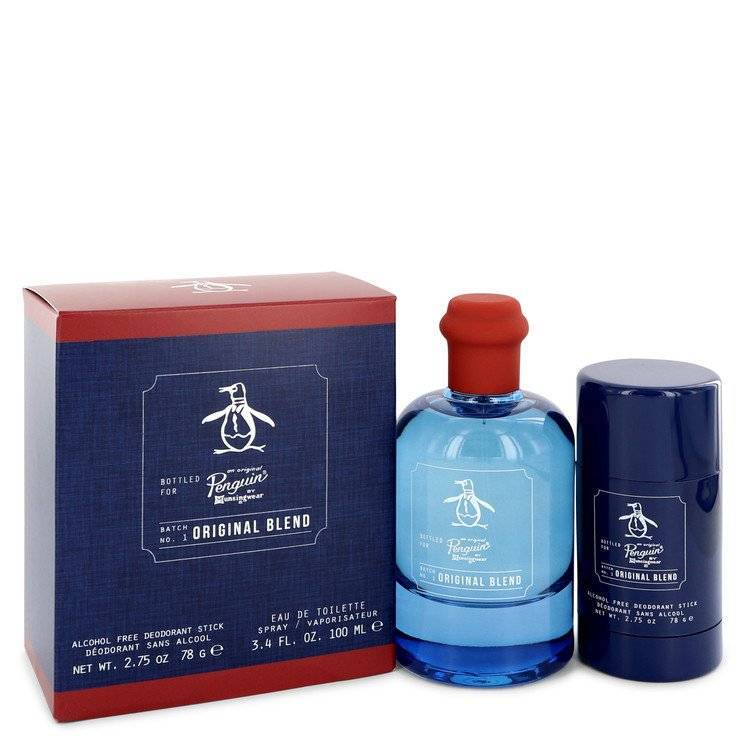 Original Penguin Original Blend by Original Penguin Gift Set -- 3.4 oz Eau De Toilette Spray + 2.75 Deodorant Stick (Alcohol Free) for Men - rangoutlet.com