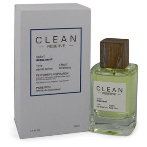 Clean Reserve Acqua Neroli by Clean Eau De Parfum Spray 3.4 oz for Women - rangoutlet.com