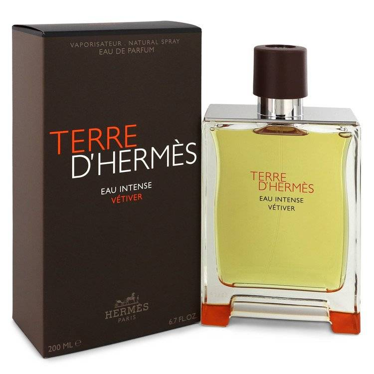 Terre D'hermes Eau Intense Vetiver by Hermes Eau De Parfum Spray 6.8 oz for Men - rangoutlet.com