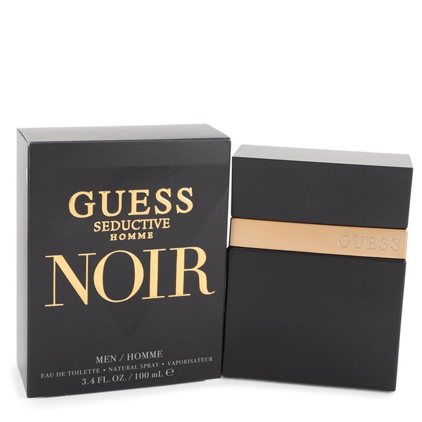 Guess Seductive Homme Noir by Guess Eau De Toilette Spray 3.4 oz for Men - rangoutlet.com