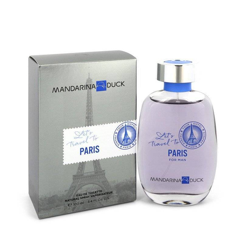 Mandarina Duck Let's Travel to Paris by Mandarina Duck Eau De Toilette Spray 3.4 oz for Men - rangoutlet.com