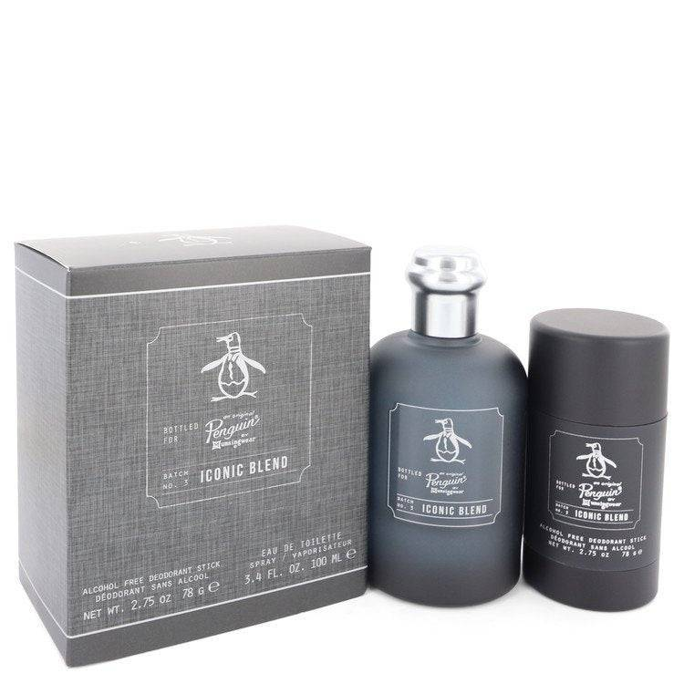 Original Penguin Iconic Blend by Original Penguin Gift Set -- 3.4 oz Eau De Toilette Spray + 2.75 oz Deodorant Stick for Men - rangoutlet.com