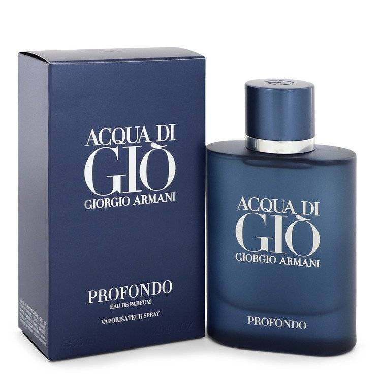 Acqua Di Gio Profondo by Giorgio Armani Eau De Parfum Spray 2.5 oz for Men - rangoutlet.com