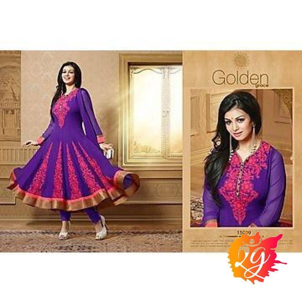 Purple Bollywood Pakistani Indian Designer Anarkali Salwar Kameez Churidar Suit Party Wear - rangoutlet.com