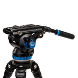 Video_camera_Standing_Benro A373F Aluminum Single-Tube Tripod with S8Pro Fluid Video Head