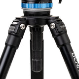 Professional_Video_tripod_Benro A373F Aluminum Single-Tube Tripod with S8Pro Fluid Video Head
