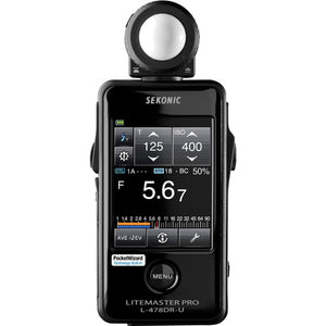 Sekonic LiteMaster Pro L-478DR-U-PX Series Light Meter for Phottix Strato II System - VL Camera Photography Store