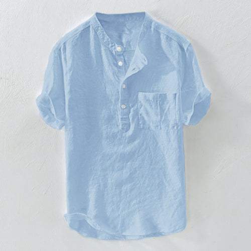 Solid Color Casual Buttons T Shirts