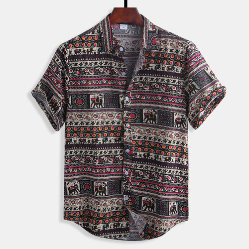 Floral Printing Cotton Casual Shirts