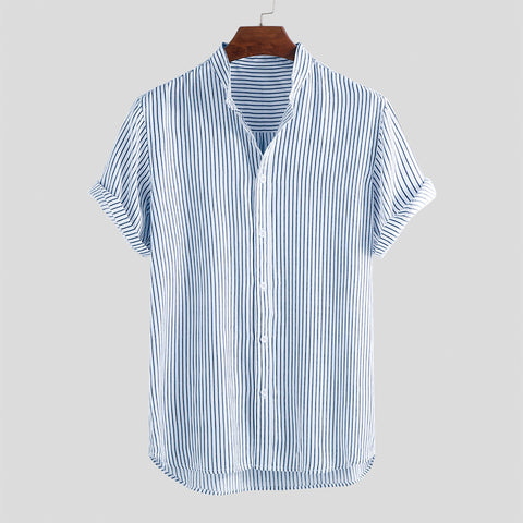 Classic Striped Casual Loose Shirts