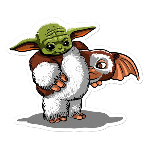 Baby Yoda in Gizmo disguise Bubble-free stickers - Baby Yoda Shop