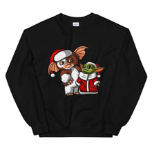 Load image into Gallery viewer, Gizmo and Baby Yoda Christmas Unisex Sweatshirt - Baby Yoda Shop