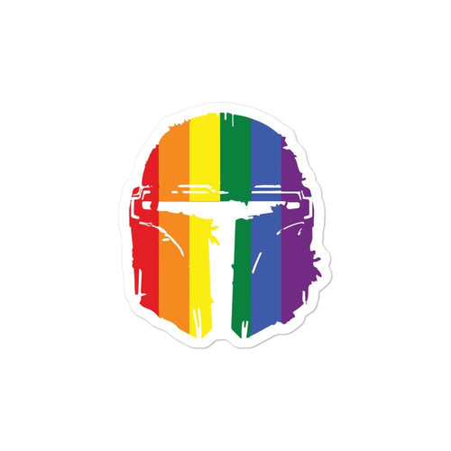 The Mandalorian Pride Flag Bubble-free stickers - Baby Yoda Shop