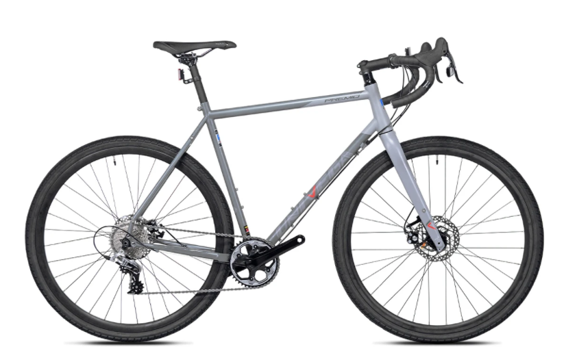 Univega 700c Gravel Gran Premio Size M/54cm Grey and Black Road Bike 520 Chromoly