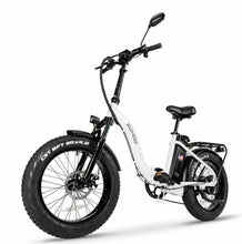 "Load image into Gallery viewer, Sohoo E-Bike 20"" Folding Bike Fat Tire City Electric Step Through Bike Adult"