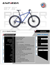 "Load image into Gallery viewer, Univega Rover Premio 27.5"" Mountain Trail Adventure Bike"