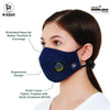 Zero Risque - Re-usable Respro Face cover with Respiratory Valve | Pack of 2 | Unisex