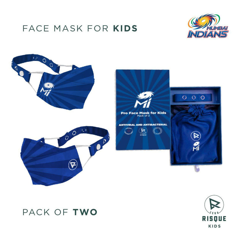 Limited Edition Premium Masks Powered by Zero Risque For KIDS | Pack of 2