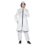 Zero Risque Multi Purpose Hooded Jacket | White| Unisex Jacket