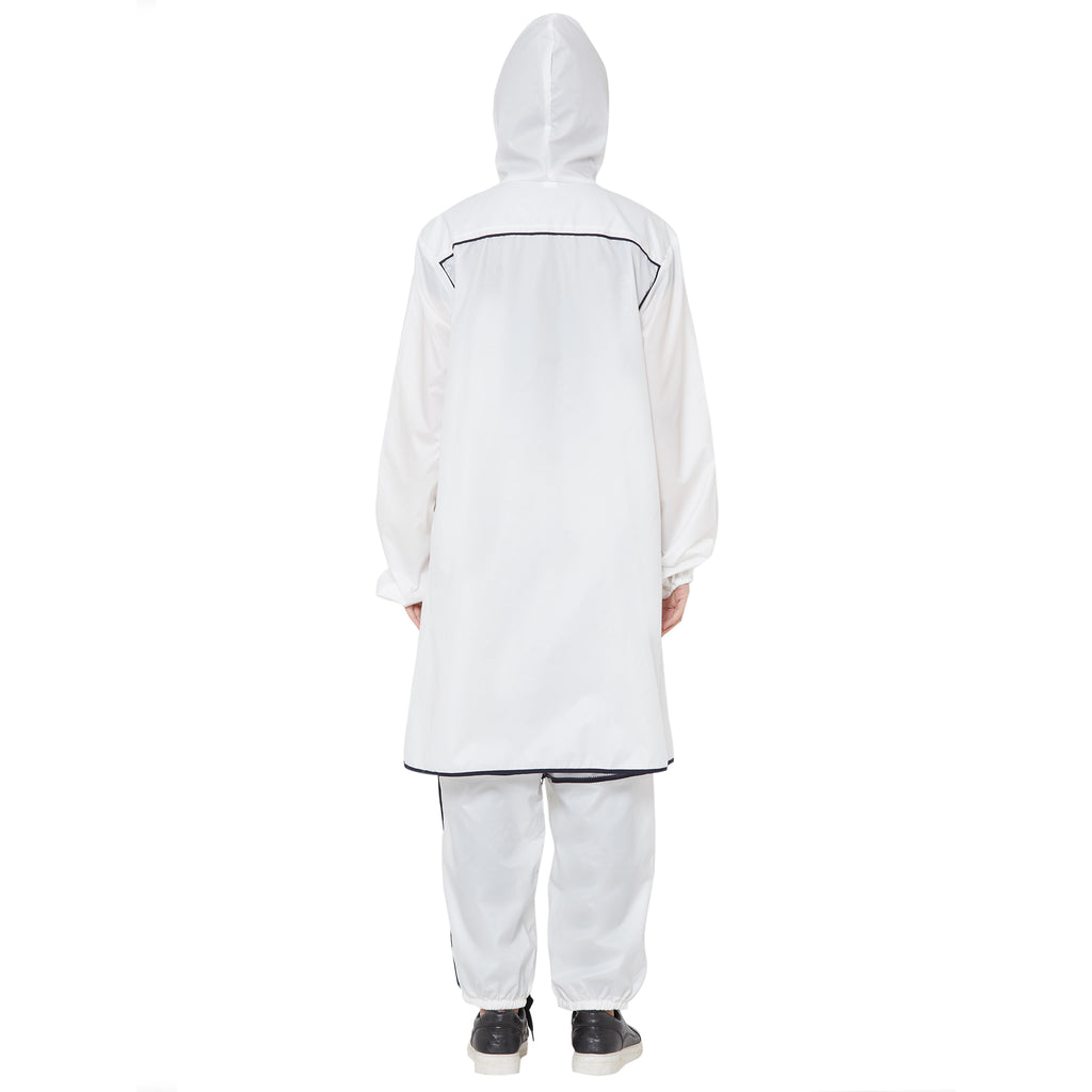 Zero Risque Fearless Fashion Hooded Coat | Unisex | White