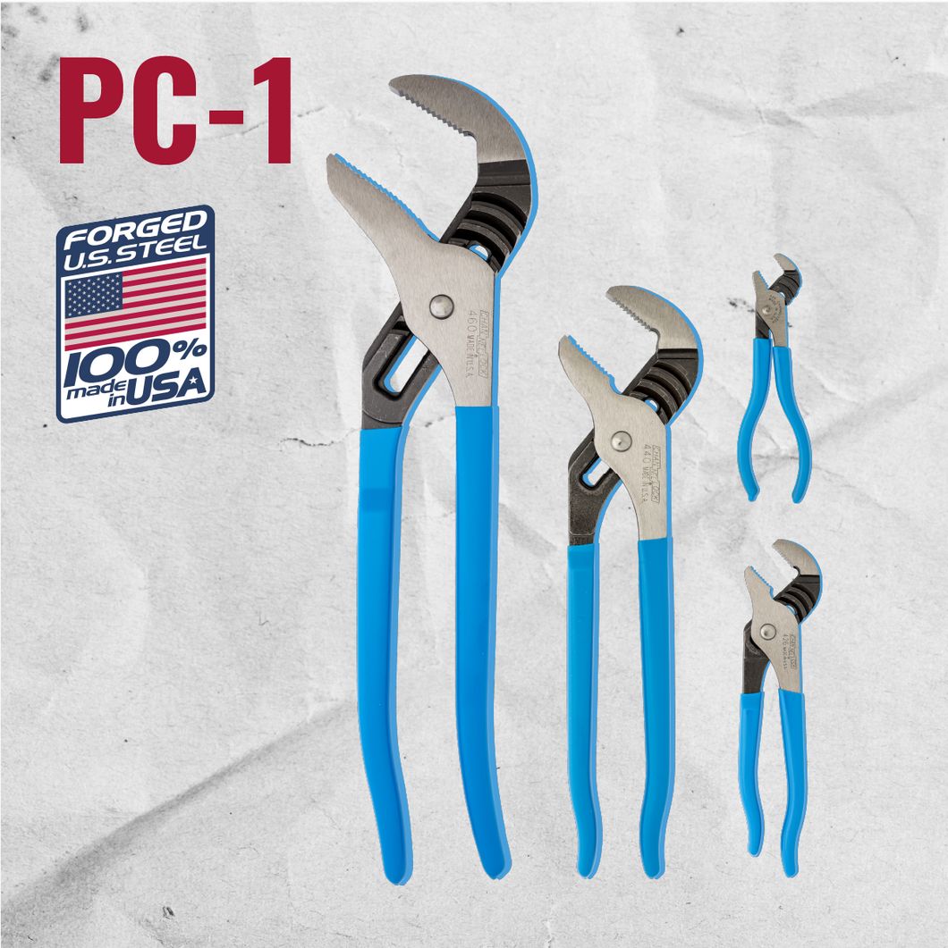 PC-1  4pc Pro's Choice Tongue & Groove Pliers Set