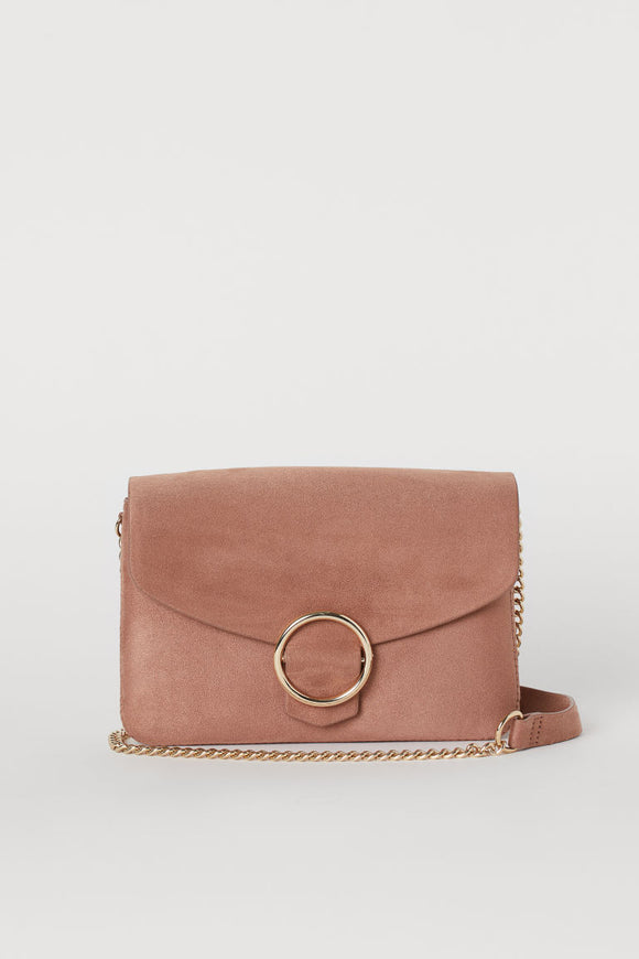 Mini Suede Buckle Bag