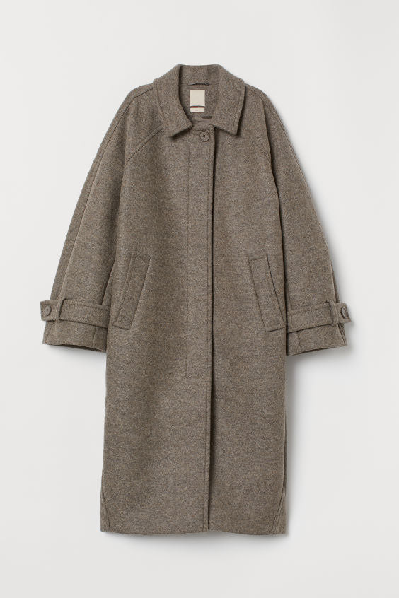 Long Wool Masculine Jacket