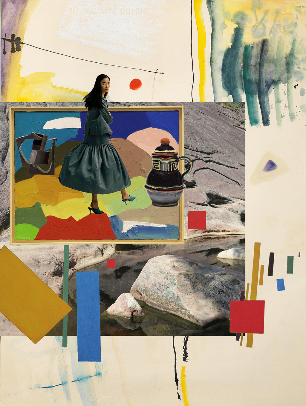 I'm walking here (w. Etel Adnan), 2020, Grace Wood