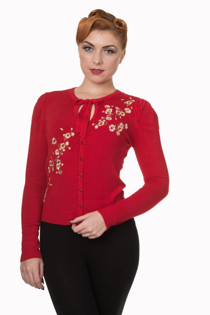 Dancing Days by Banned Last Dance Cardigan Red (L ONLY)