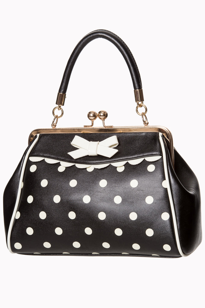 Banned Crazy Little Thing Black/White Handbag