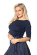 Banned Retro Oonagh Top Navy