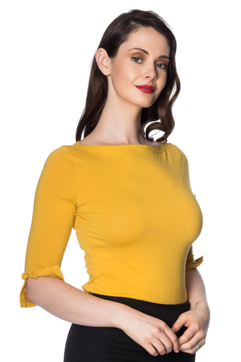 Banned Retro Oonagh Top Mustard