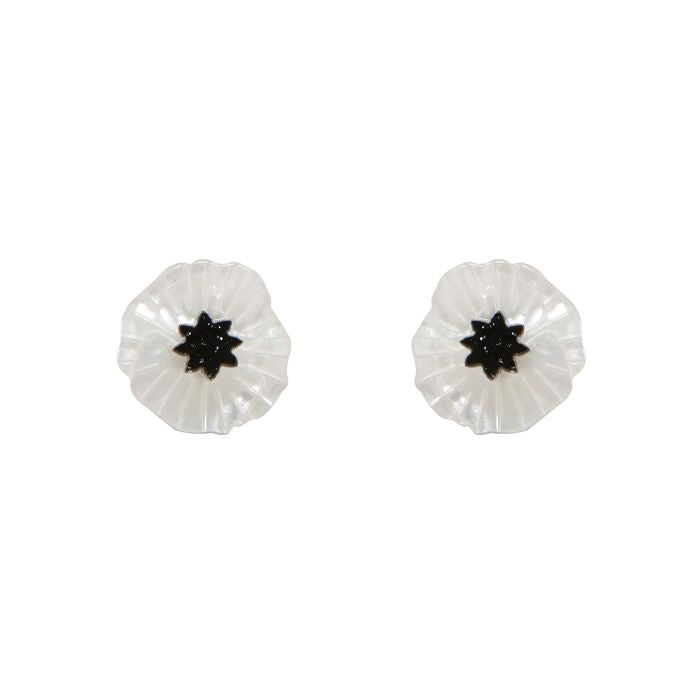 Erstwilder Poppy Field White Earrings