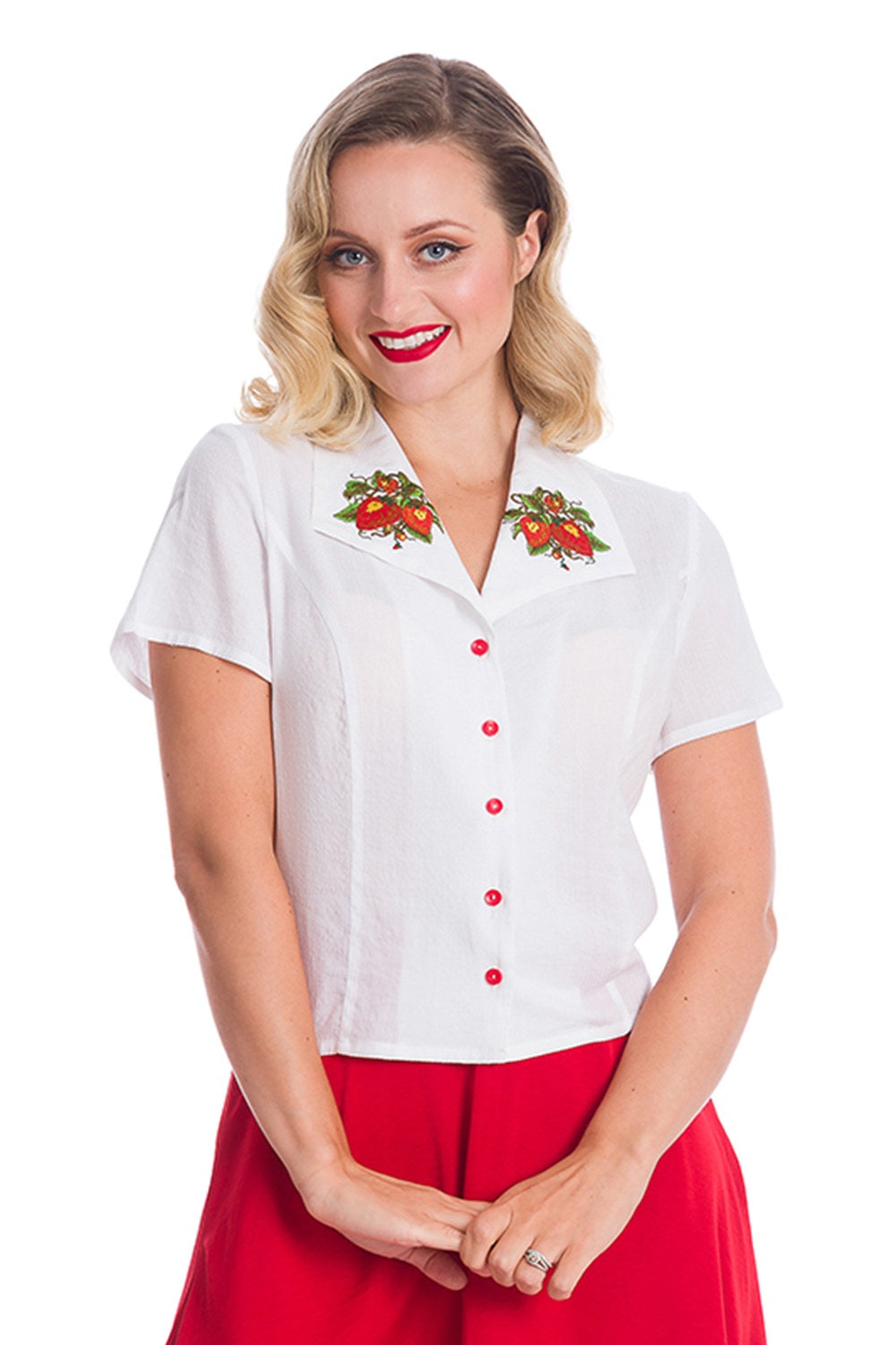 Banned Retro Strawberry Fields Blouse