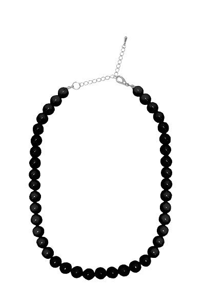 Collectif Bead Necklace Black
