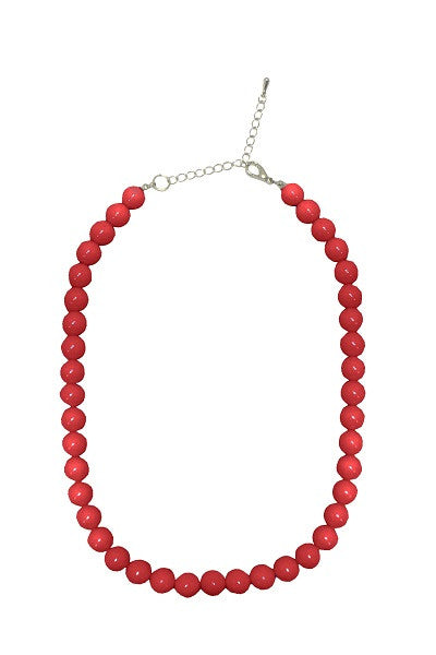 Collectif Bead Necklace Red