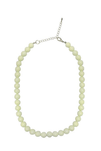 Collectif Bead Necklace Ivory