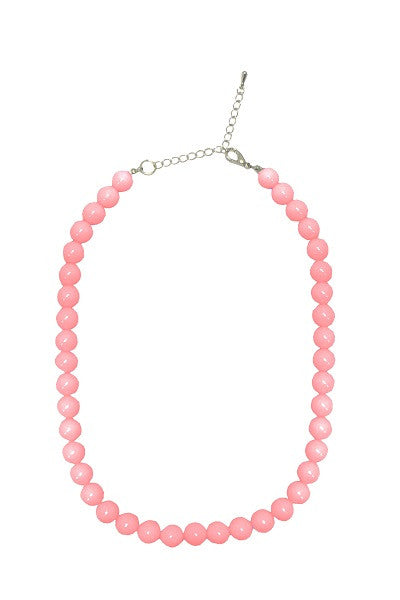 Collectif Bead Necklace Pink