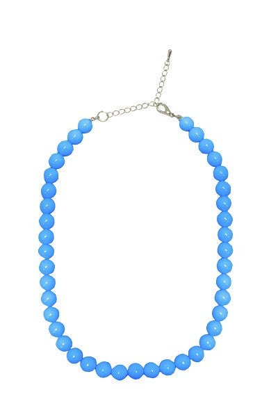 Collectif Bead Necklace Blue