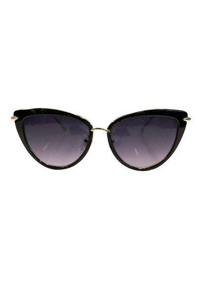 Collectif Sunglasses Dita Black/Gold