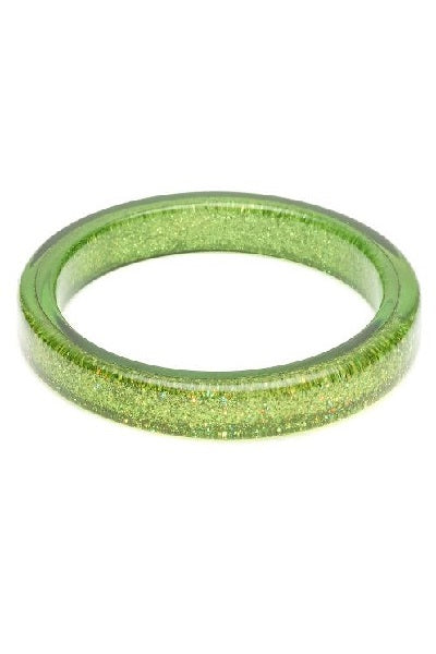 Splendette CLASSIC Bangle - Glitter Leaf Green