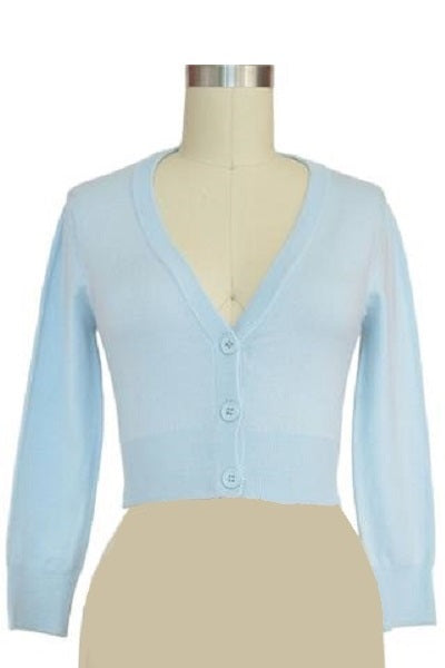 MAK Cropped Cardigan Light Blue