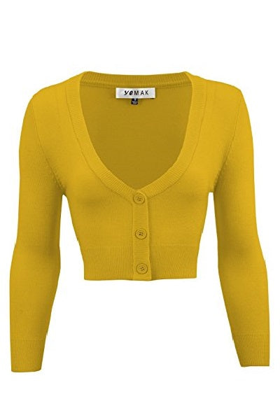 MAK Cropped Cardigan Honey