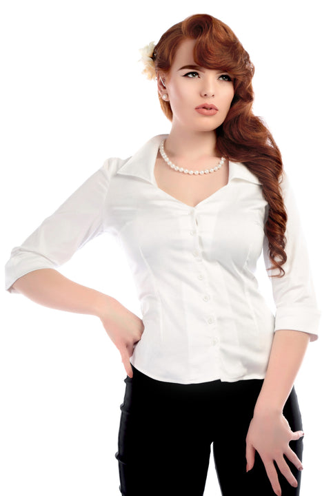 Collectif Mona Shirt White