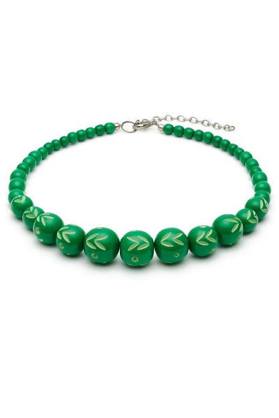 Splendette Necklace - Carved Bead Summer